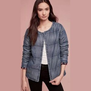 Cloth & Stone Anthropologie Quilted Tencel Jacket